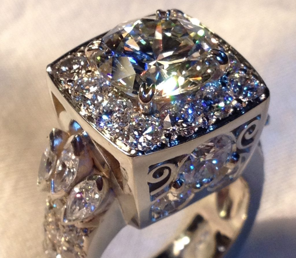 ring close-up diamond bright