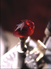 creation of a faceted gemstone