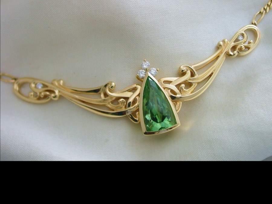 necklace marquis channel set diamonds
